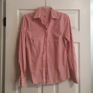 Two Banana Republic fitted dress shirts
